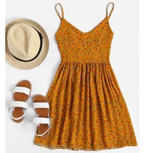 Dresses & Skirts - Fit n Flare Flower Print Smock Cami Dress